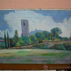 Arte: OLEO / TELA - L TUSQUELLAS - PAISAJE. Lote 38535063