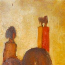 Arte: PRECIOSA PINTURA VINTAGE DE LOS AÑOS 70 FIRMADO CON INICIALES A K Y FECHADO 73. Lote 38575550