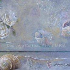 Arte: ÓLEO TABLA. REALISMO MÁGICO. 'LA ROSA Y OTROS FRENTE AL PLANO' DOMINGO CORREA. Lote 38675809