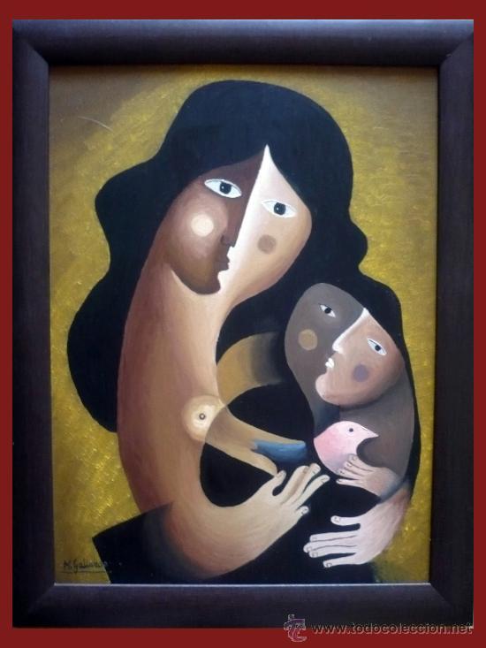 MATERNIDAD PICASSIANA - M.GALLARDO ¡OFERTA! (Arte - Pintura - Pintura al Óleo Contemporánea )