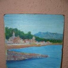 Arte: OLEO / TABLEX - ANÓNIMO - MARINA. Lote 38753829
