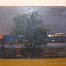 Arte: OLEO / TABLEX - ANÓNIMO - PAISAJE CREPUSCULAR. Lote 38784386
