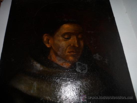 ANTIGUO LIENZO DE SAN FRANCISO DE ASIS. OIL CANVAS, S. XVIII (Arte - Pintura - Pintura al Óleo Antigua siglo XVIII)