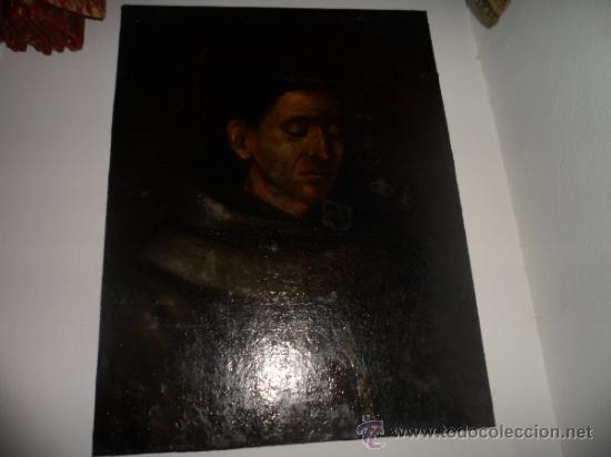 Arte: ANTIGUO LIENZO DE SAN FRANCISO DE ASIS. OIL CANVAS, S. XVIII - Foto 3 - 38895405