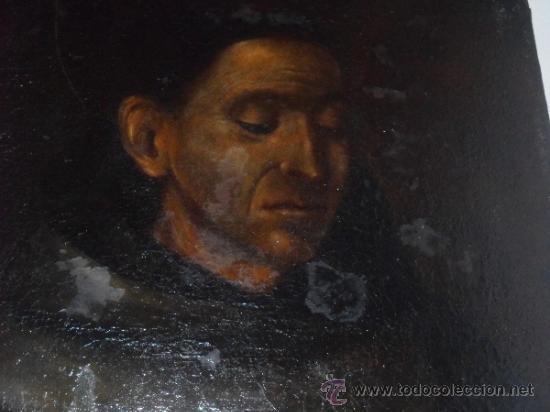 Arte: ANTIGUO LIENZO DE SAN FRANCISO DE ASIS. OIL CANVAS, S. XVIII - Foto 2 - 38895405