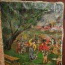 Arte: OLEO SOBRE LIENZO PAISAJE GOYESCO EN LOS PRADOS DEL ESCORIAL,POR EL LIENZO PARECE S.XIX. Lote 52782527