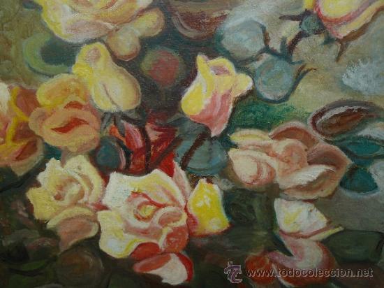 Arte: OLEO / TELA - FDO ARBAYS - ROSAS - Foto 3 - 38843438