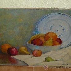 Arte: OLEO / TELA - JFIRMADO JEAN JOS H - BODEGÓN CON CERÁMICA Y FRUTAS. Lote 38860618