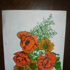 Arte: OLEO SOBRE PAPEL S XX BODEGON DE FLORES. Lote 38870284