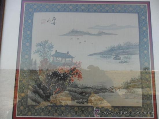 Arte: pintura oriental en tela - Foto 2 - 38883078