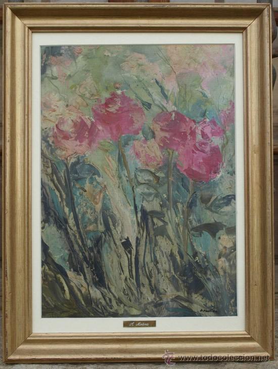 OLEO SOBRE TELA. C 1960. FDO A. MOLINA (Arte - Pintura - Pintura al Óleo Contemporánea )