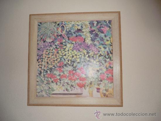 OLEO SOBRE LIENZO FIRMADO POR M.FLORES (Arte - Pintura - Pintura al Óleo Contemporánea )
