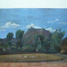 Arte: OLEO / YTABLEX - ANÓNIMO ´CASTELL DE TONA DESDE EL SAVELL. Lote 39171979