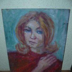 Arte: OLEO / TABLEX - ANÓNIMO - RETRATO FEMENINO. Lote 39189036