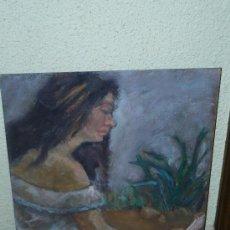 Arte: OLEO / TABLEX - ANÓNIMO - RETRATO FEMENINO. Lote 39204216
