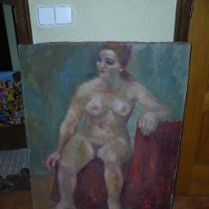 Arte: OLEO / TELA - ANÓNIMO - DESNUDO FEMENINO. Lote 39278668