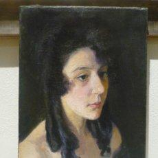 Arte: AURELI TOLOSA (1861-1938). RETRATO DE MUJER JOVEN. OLEO SOBRE TELA.. Lote 46906016