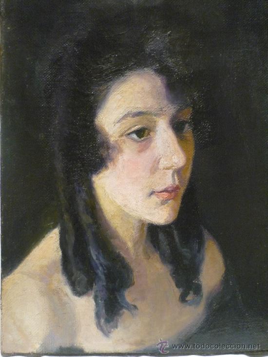 Arte: AURELI TOLOSA (1861-1938). RETRATO DE MUJER JOVEN. OLEO SOBRE TELA. - Foto 2 - 46906016