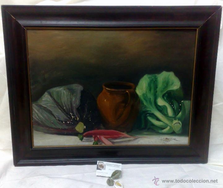 Arte: BODEGON, FIRMADO Y FECHADO AÑO 1911. OLEO /LIENZO , ESCUELA ESPAÑOLA - Foto 3 - 28536221