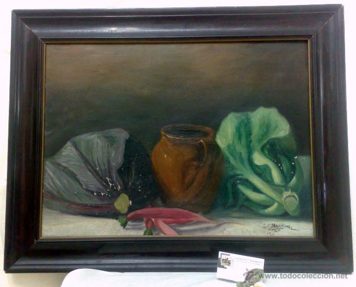BODEGON, FIRMADO Y FECHADO AÑO 1911. OLEO /LIENZO , ESCUELA ESPAÑOLA (Arte - Pintura - Pintura al Óleo Moderna sin fecha definida)