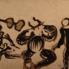 Arte: TOROS Y MÚSICOS EN DANZA / CUADRO J. COMELLAS MEDIDAS 119X87CM. Lote 39381298