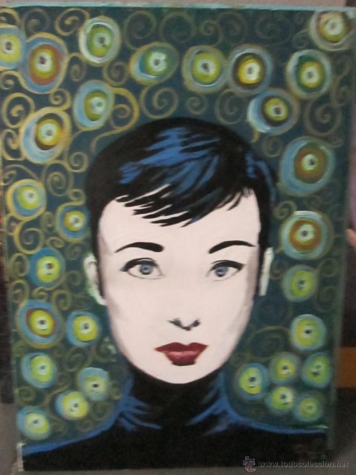 Cuadro audrey hepburn de autor aficionado comprar pintura directa del autor en todocoleccion - Cuadro audrey hepburn ...
