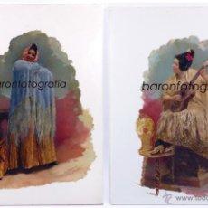 Arte: ESTUDIO AUDOUARD. PAREJA DE ÓLEOS SOBRE CERÁMICA, 1900'S APROX. MUY RARO. .. Lote 39385916