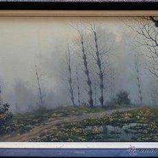Arte: MANUEL M. MERINO, ARANJUEZ 1963, PAISAJE ÓLEO SOBRE LIENZO, MARCO: 126X75 CM.. Lote 39413282