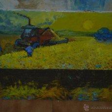 Arte: OLEO / TELA - ANÓNIMO - LABORES AGRÍCOLAS. Lote 39476397