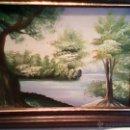 Arte: PRECIOSO CUADRO PINTADO EN TABLA .EN LA PARTE POSTERIOR TIENE ESCRITO,STFSR.1980. Lote 39487192
