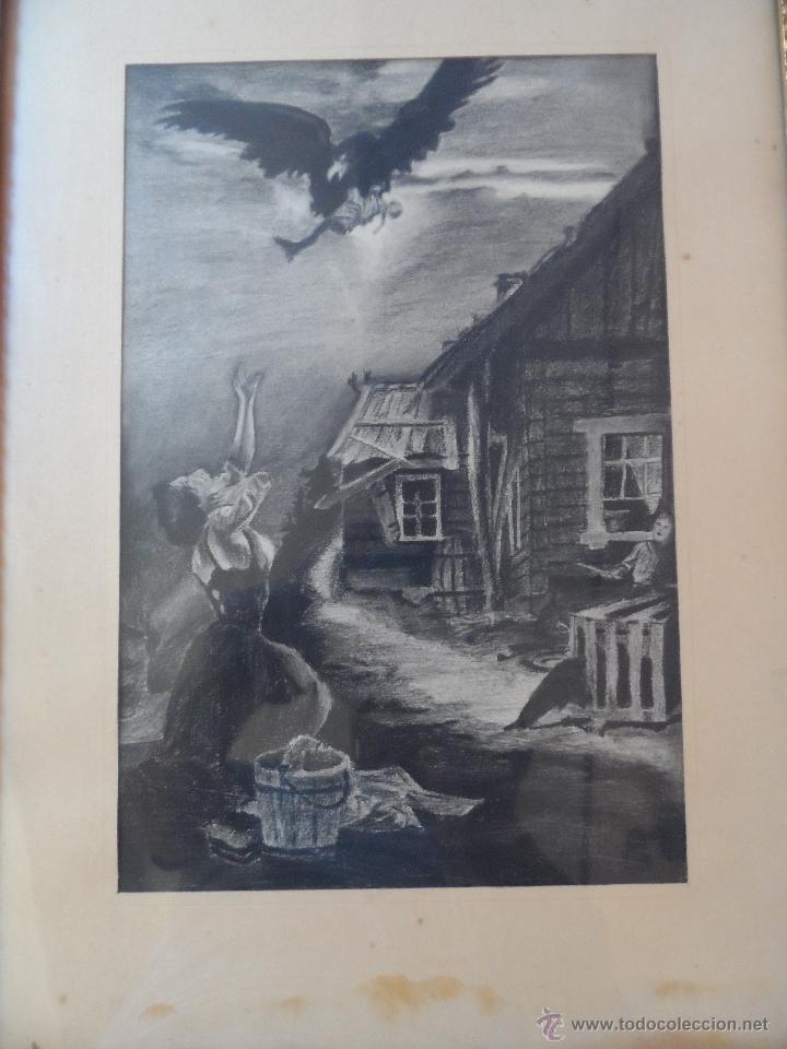 Arte: dibujo a lapiz carbon - PESADILLA - BEBE ROBADO - BUENA CALIDAD - Foto 2 - 39488495