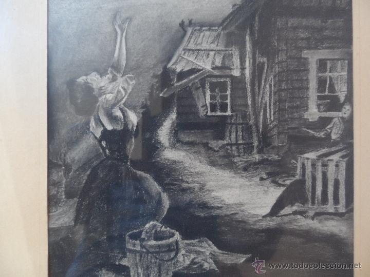 Arte: dibujo a lapiz carbon - PESADILLA - BEBE ROBADO - BUENA CALIDAD - Foto 3 - 39488495