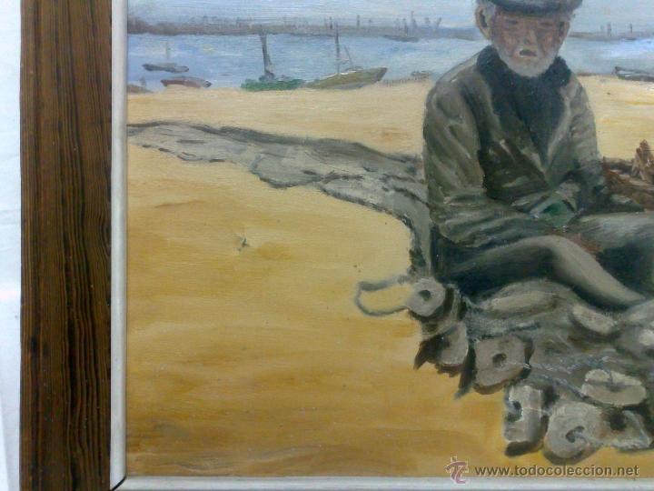 Arte: OLEO / LIENZO, .-PESCADOR.- - Foto 9 - 32020570