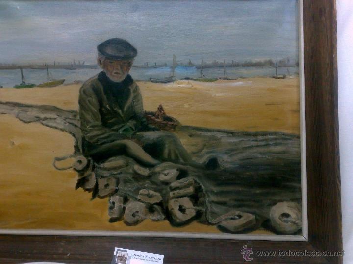 Arte: OLEO / LIENZO, .-PESCADOR.- - Foto 10 - 32020570