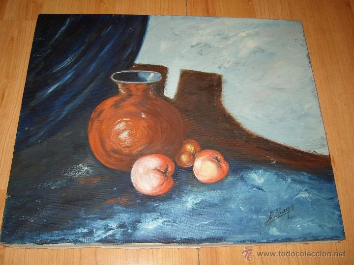 CUADRO ESTUPENDO BODEGON PINTURA , OLEO SOBRE LIENZO,FIRMADO,ALBAGO (Arte - Pintura - Pintura al Óleo Moderna sin fecha definida)