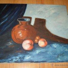 Arte: CUADRO ESTUPENDO BODEGON PINTURA , OLEO SOBRE LIENZO,FIRMADO,ALBAGO. Lote 39552770