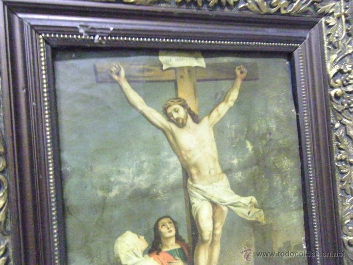 Arte: OLEO EN PAPEL SOBRE COBRE SIGLO XVIII - Foto 2 - 61038186