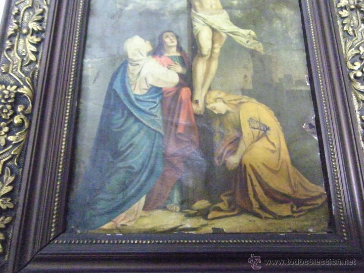 Arte: OLEO EN PAPEL SOBRE COBRE SIGLO XVIII - Foto 4 - 61038186