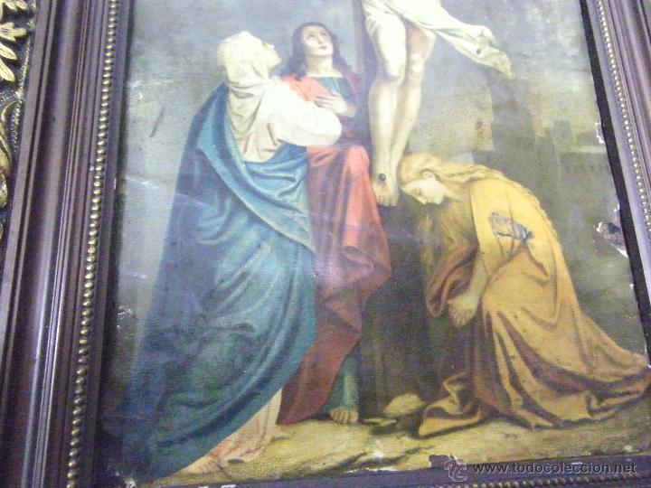 Arte: OLEO EN PAPEL SOBRE COBRE SIGLO XVIII - Foto 5 - 61038186