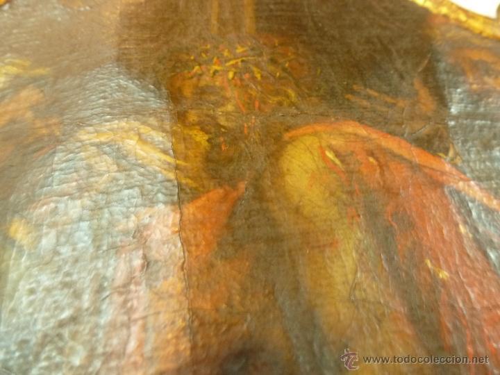 Arte: pintura al oleo sobre tela pegado en tabla - Foto 4 - 39633633