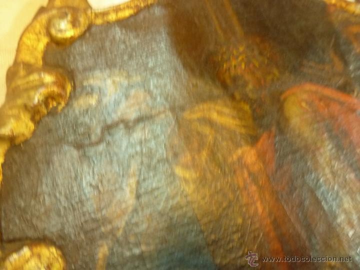 Arte: pintura al oleo sobre tela pegado en tabla - Foto 5 - 39633633