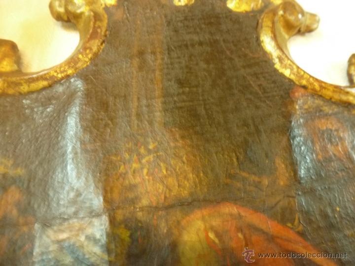 Arte: pintura al oleo sobre tela pegado en tabla - Foto 8 - 39633633