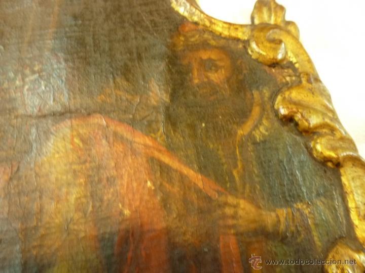 Arte: pintura al oleo sobre tela pegado en tabla - Foto 9 - 39633633