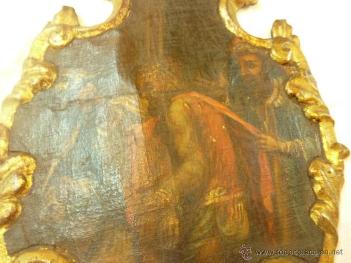 Arte: pintura al oleo sobre tela pegado en tabla - Foto 13 - 39633633