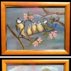 Arte: PÁJAROS EN LA RAMA Y EN EL NIDO - M. GALLARDO ¡OFERTA!. Lote 39715774