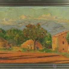 Arte: B2-021. OLEO SOBRE LIENZO TITULADO ELS PALLERS EN LA TIROLA. FIRMADO GARRO. 1934.. Lote 39719478