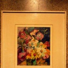 Arte: PRECIOSO ÓLEO DE CARME RODES ROSES(BARCELONA 1930)MUCHA PASTA Y COLORIDO. Lote 40005501