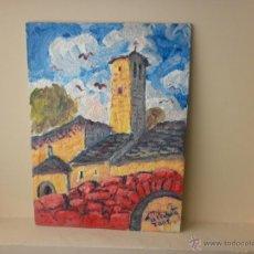 Arte: PINTURA SOBRE TABLA STA MARIA DEL PILAR ACUMUER EL SERRABLO HUESCA P. LOBATO. Lote 39864772