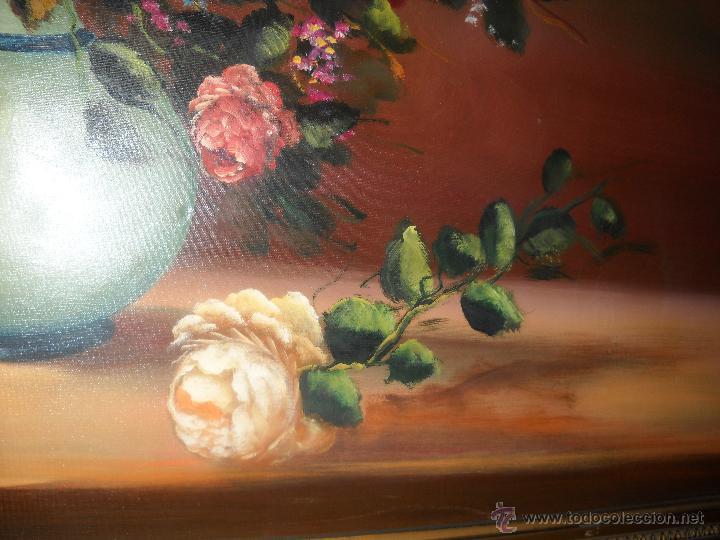 Arte: OLEO SOBRE LIENZO DE M.GALVEZ SOLLERO,JARRON CON ROSAS - Foto 19 - 39813489