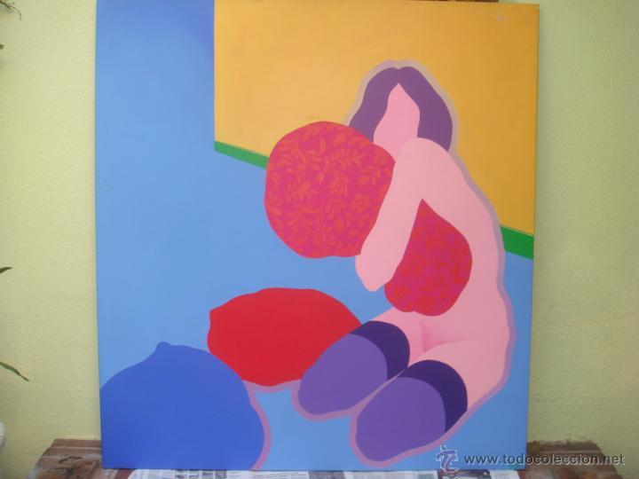 """EDUARDO URCULO (1938.+2003). ÓLEO SOBRE LIENZO """"EL ABRAZO DEL COLOR"""". 1970. (Arte - Pintura - Pintura al Óleo Contemporánea )"""